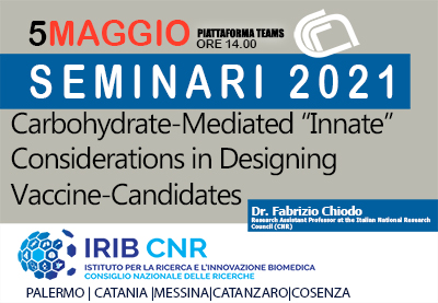 Seminar: Dr.  Fabrizio Chiodo 05 May 2021