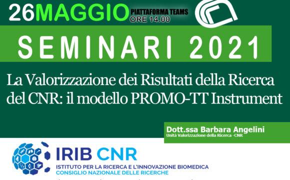 Seminar: Dr. Barbara Angelini. may 26 2021.