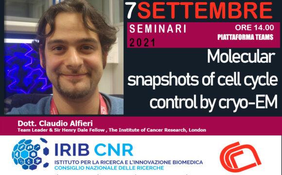 Seminario: Dott. Claudio Alfieri. 7 Settembre 2021