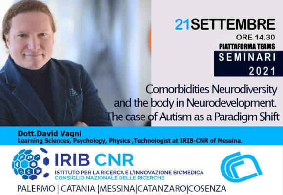 Seminario: Dott. David Vagni. 21 Settembre 2021