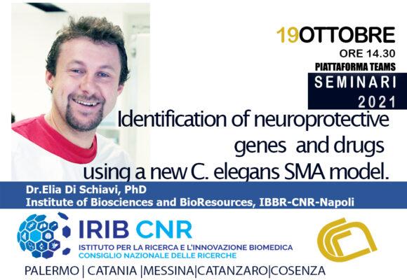 Seminario: Dott. Elia Di Schiavi. 19 Ottobre 2021